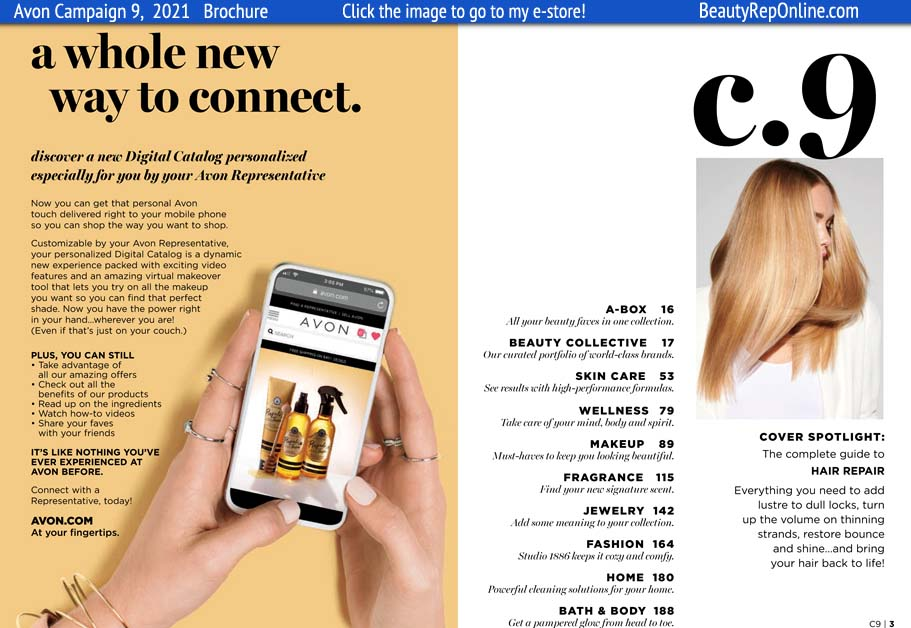 Avon Brochure Catalog Campaign 9, 2021.