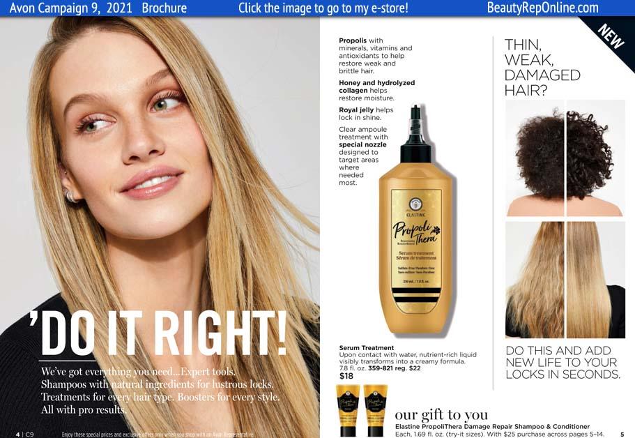 Avon Brochure Elastine Propoli Damaged Hair Repair