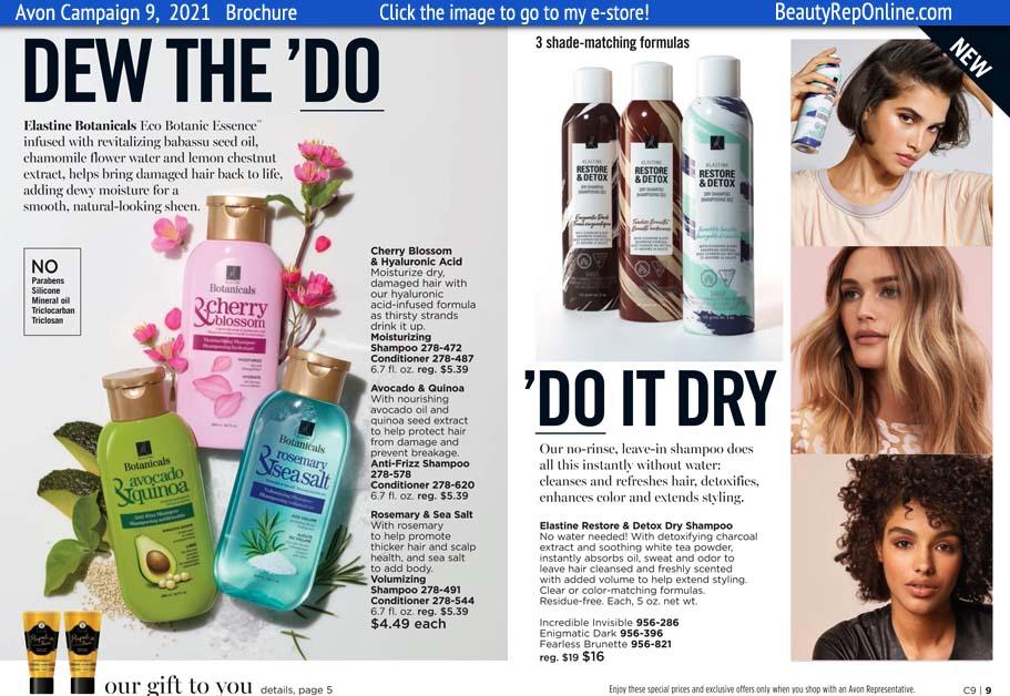 Avon Brochure Dry Shampoo