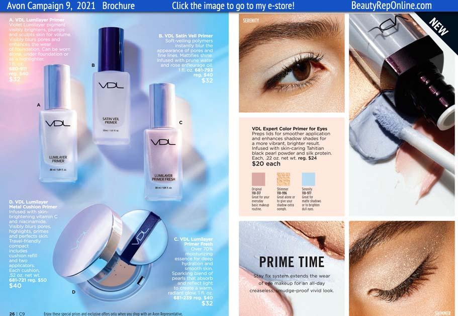 Avon Brochure VDL Primer Primer For Eyes