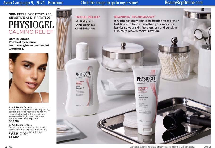 Avon Brochure Physiogel Skin Care