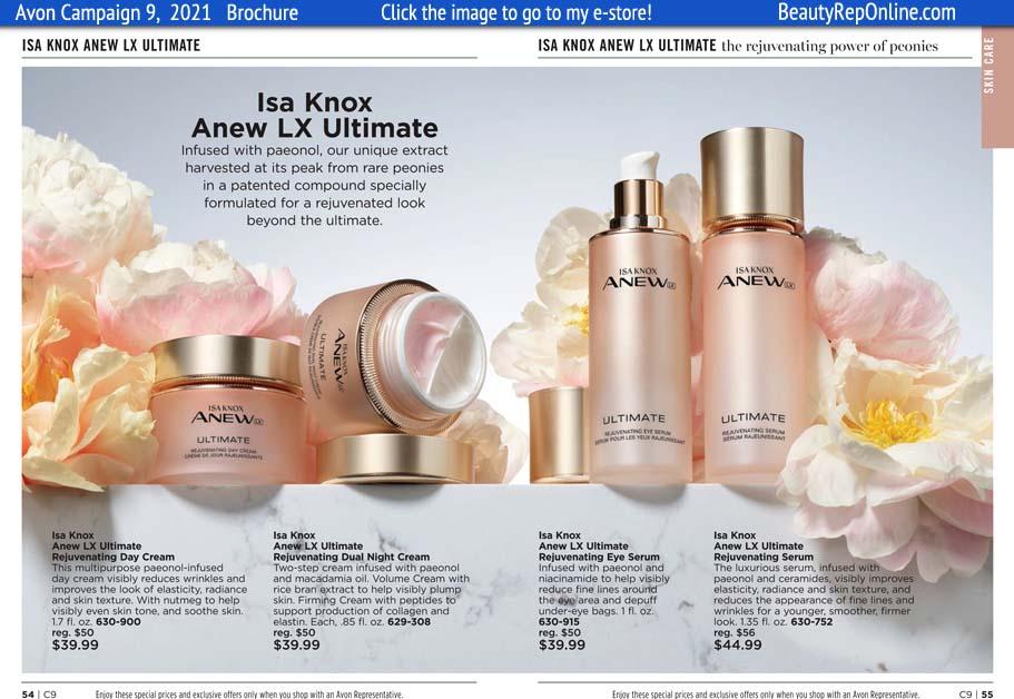 Avon Brochure Isa Knox Skin Care