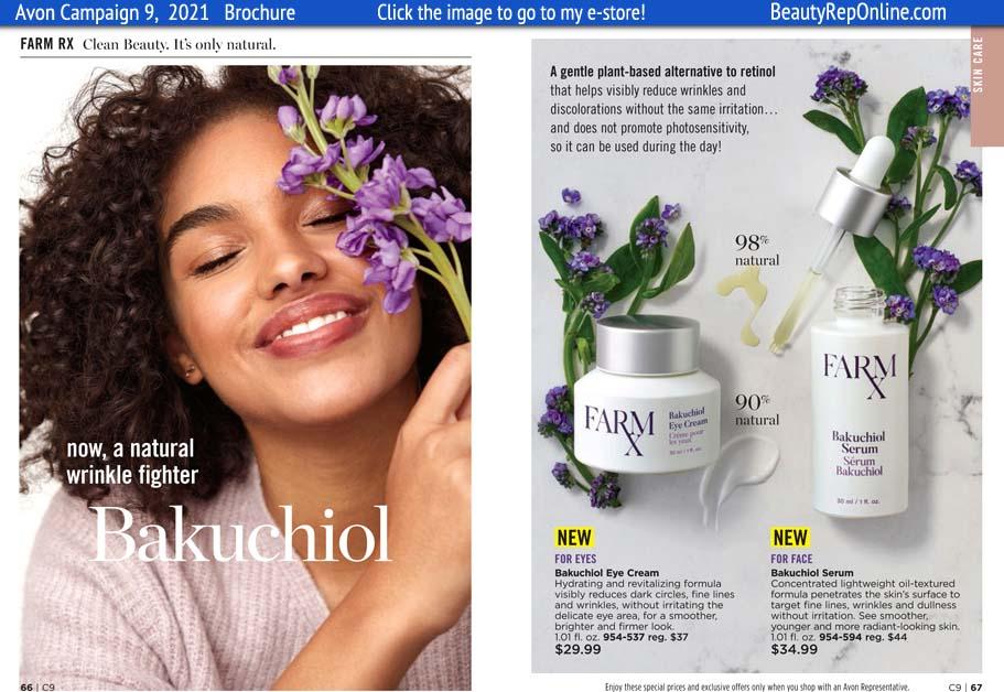 Avon Brochure Farm Rx Vegan Skin Care