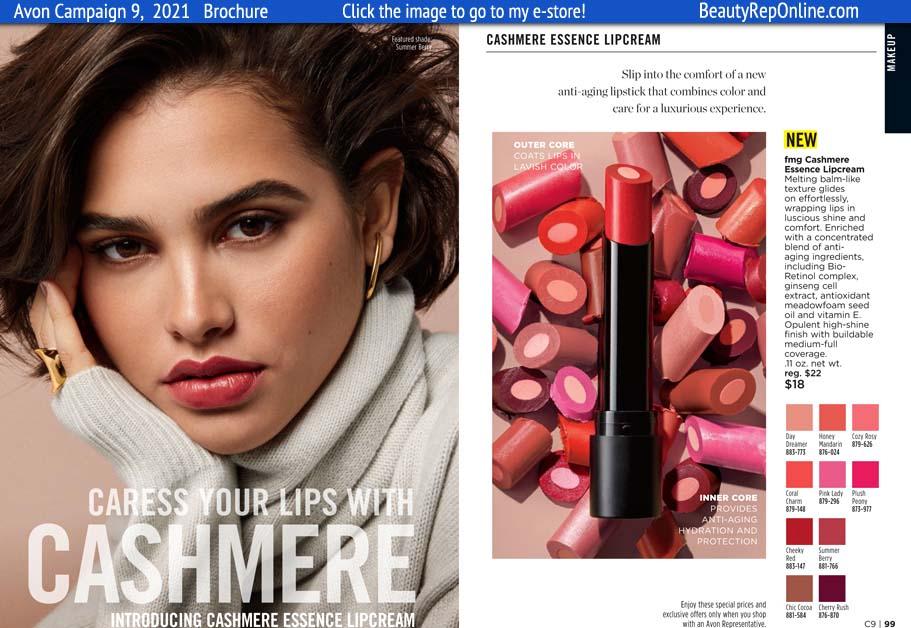 Avon Brochure Cashmere Essence LipCream