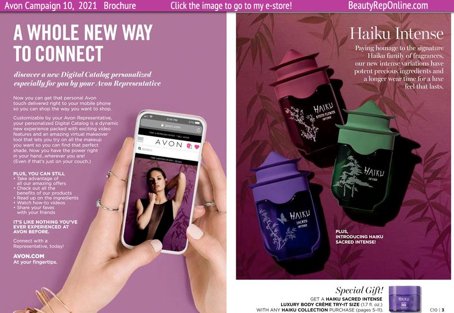 Avon Brochure Catalog What's New? Fragrances from Haiku - New and Exciting Good to see Avon Supplementing a Loved Name like Imari!