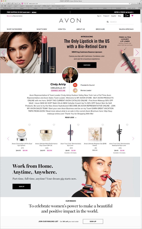 Avon Representative Cindy Avon Online Store