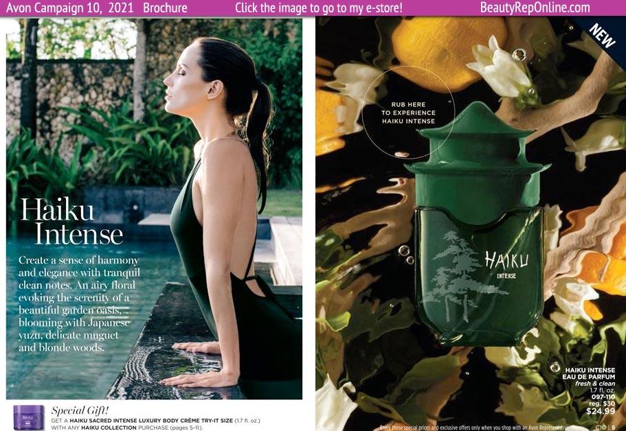 Avon Brochure Catalog Campaign 11 Avon Fragrance Haiku Intense New for Campaign 11