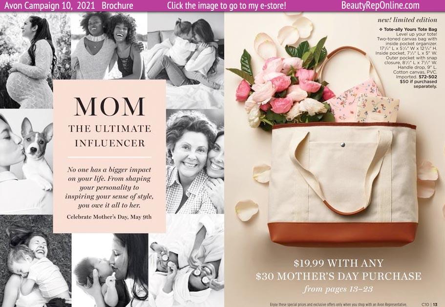 Avon Brochure Avon Catalog Campaign 10 Mother's Day Canvas Tote