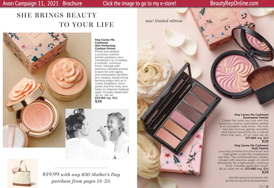 Avon Brochure Avon Makeup Mothers Day Boxed Gift Sets